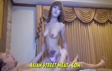 Petite Asian enjoys hard anal