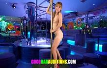 Sexy Thai pole dancer solo